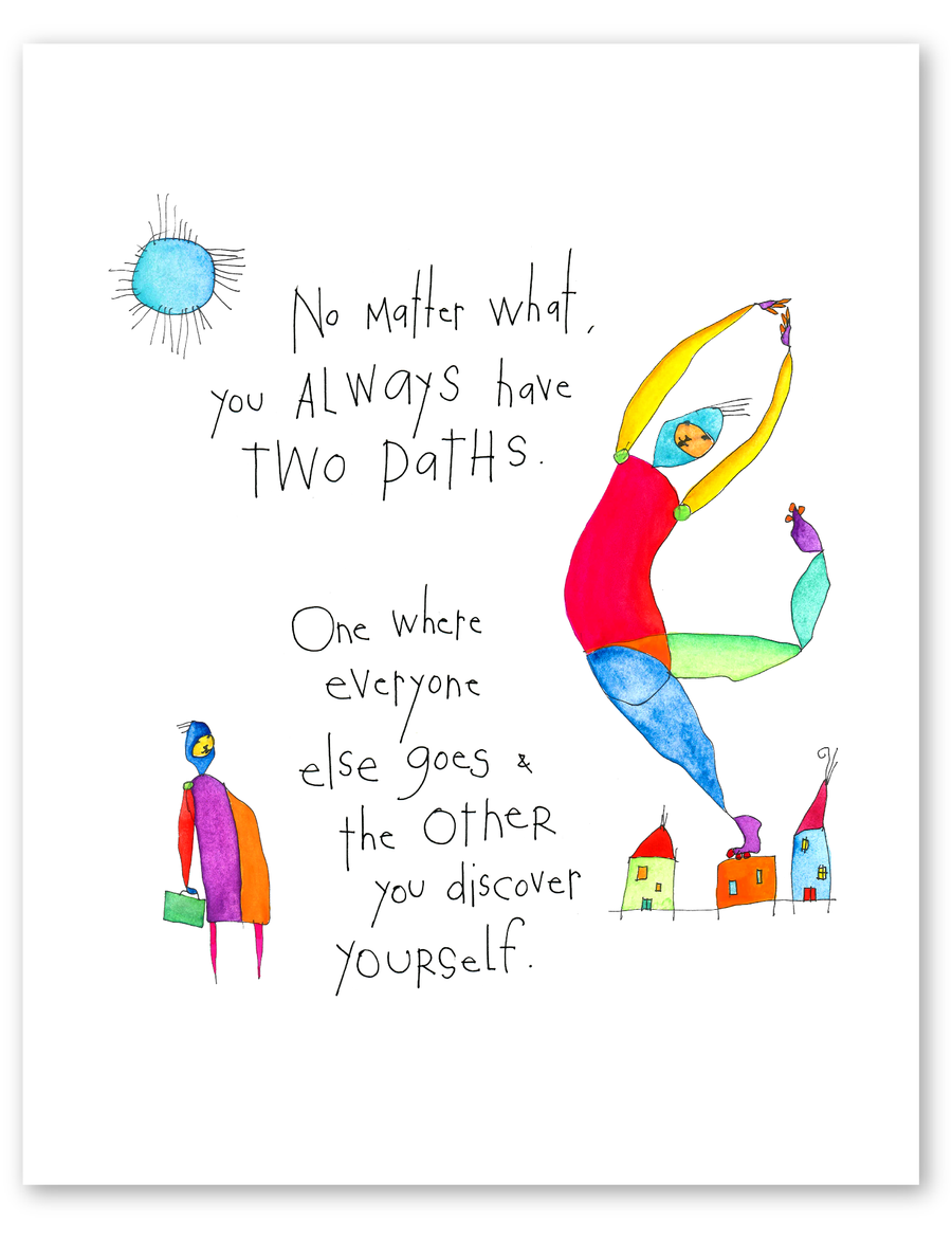 two paths (remix) print