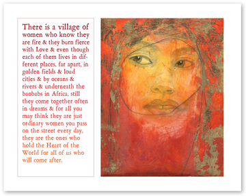 village of women (icon) print