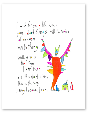 wild song print