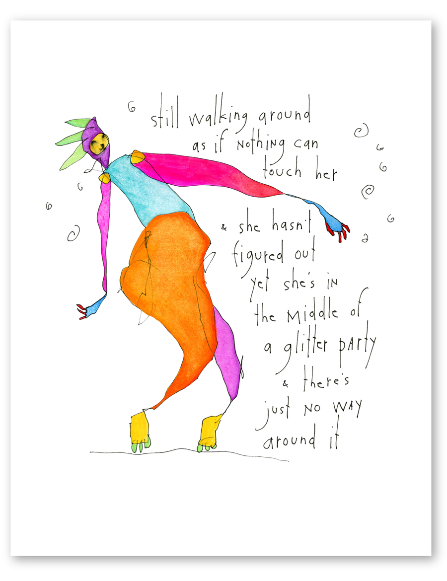 glitter party print