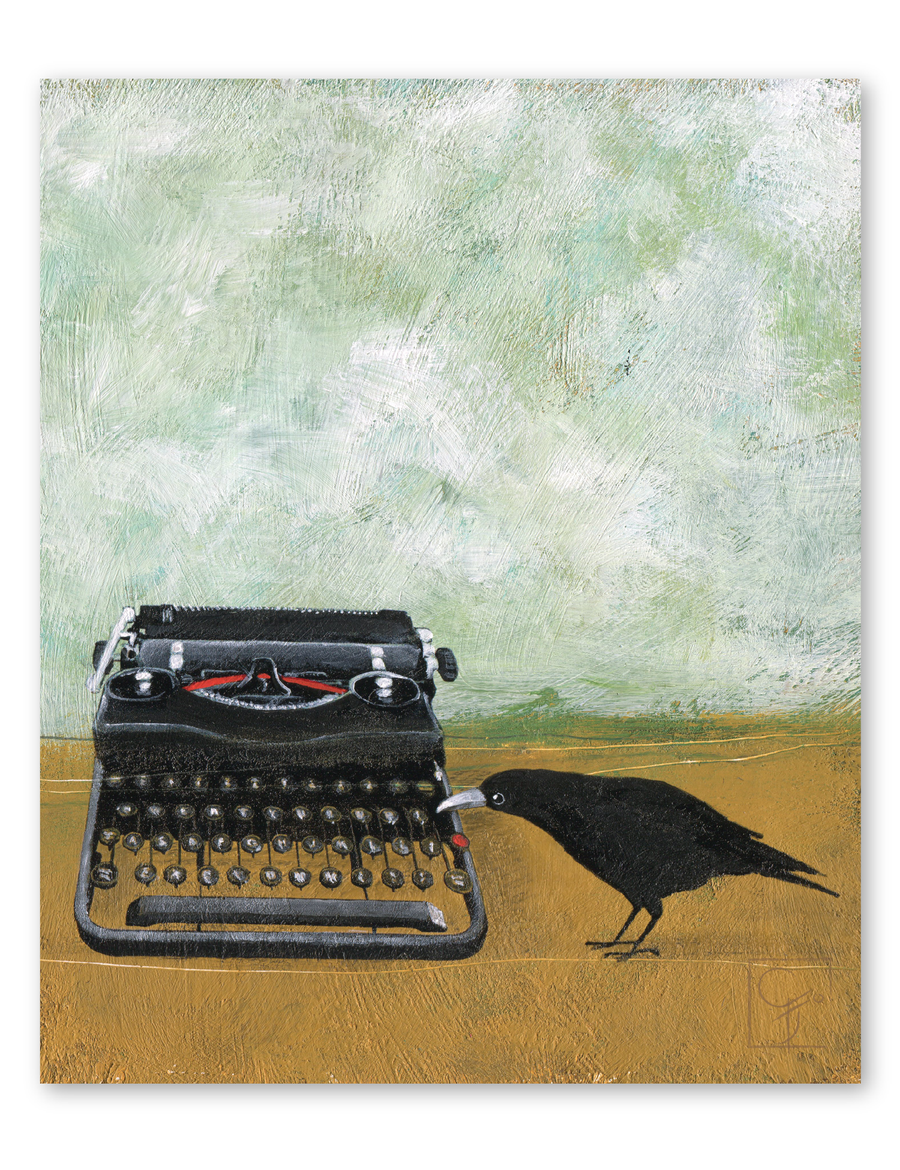 bird & brush: miranda writes print