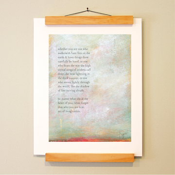 bird & brush: act of imagination print