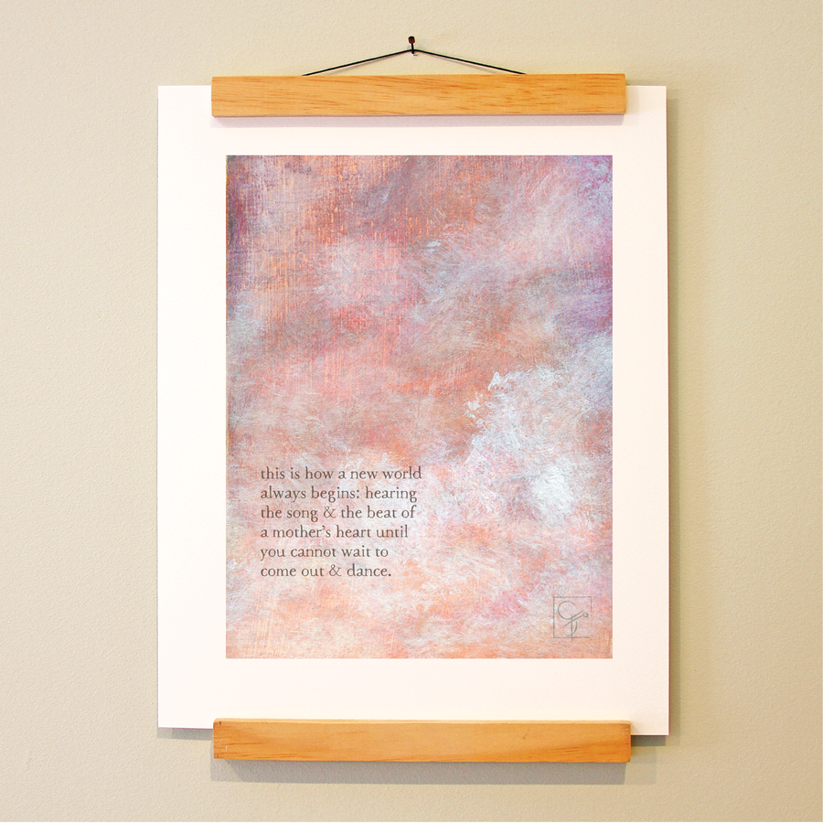 bird & brush: mother's song print