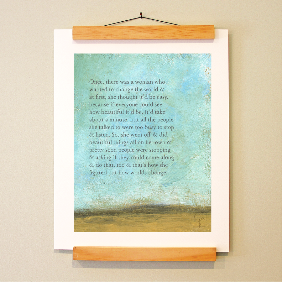 bird & brush: beautiful things print