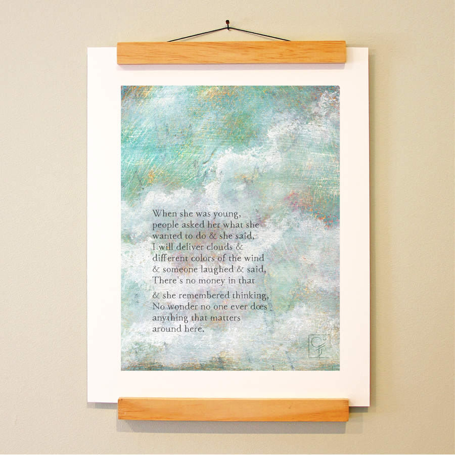 bird & brush: cloud delivery print