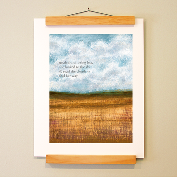bird & brush: cloud reader print