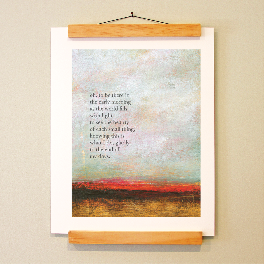 bird & brush: each small thing print