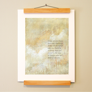 bird & brush: even if (remix) print