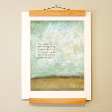 bird & brush: fellow traveler print