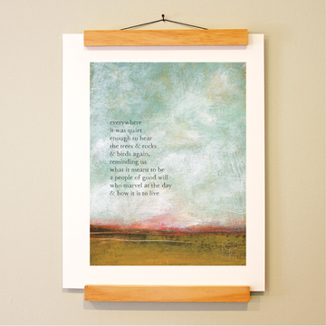 bird & brush: good will print