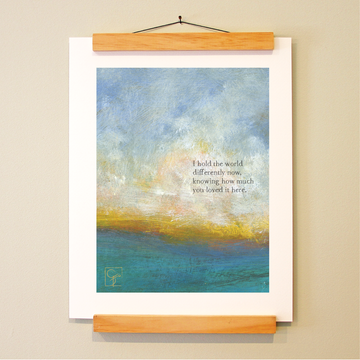 bird & brush: hold the world print
