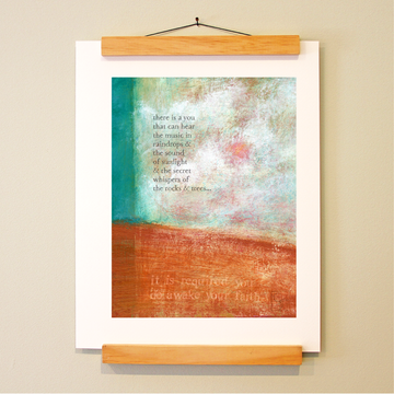 bird & brush: hearing voices print