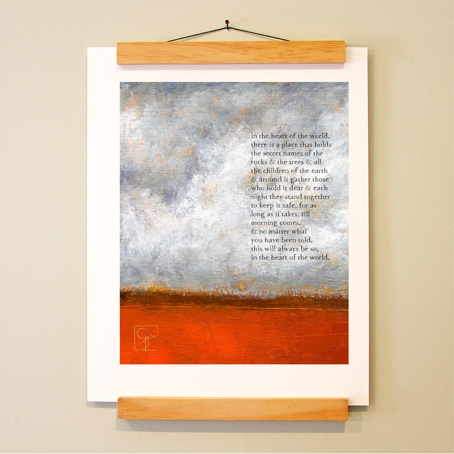 bird & brush: in the heart of the world print