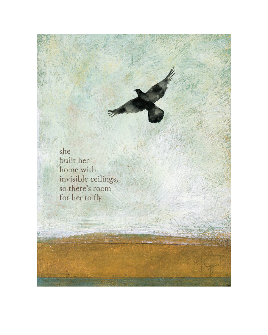 bird & brush: invisible ceilings print