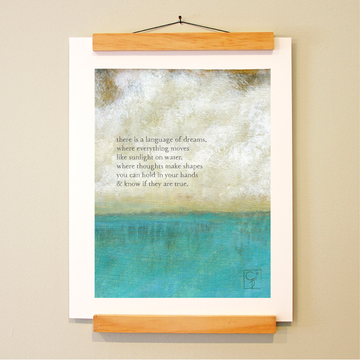 bird & brush: language of dreams print