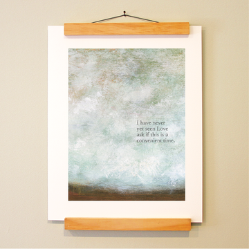 bird & brush: leading question print