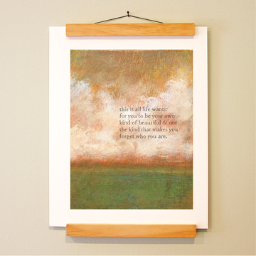 bird & brush: life wants print
