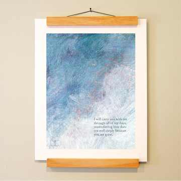 bird & brush: living memory print
