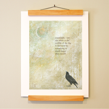 bird & brush: midday moon print