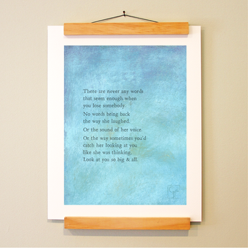 bird & brush: never any words print