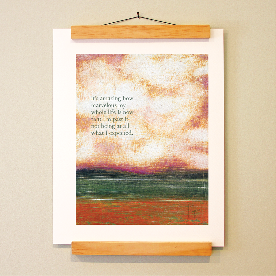 bird & brush: past expectations print