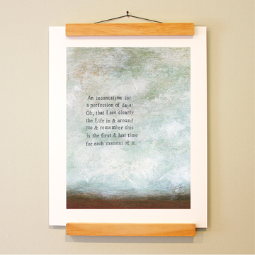 bird & brush: perfection of days print