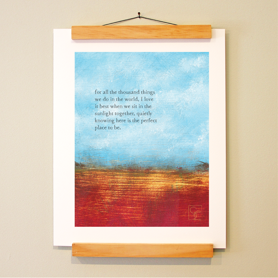 bird & brush: perfect place print