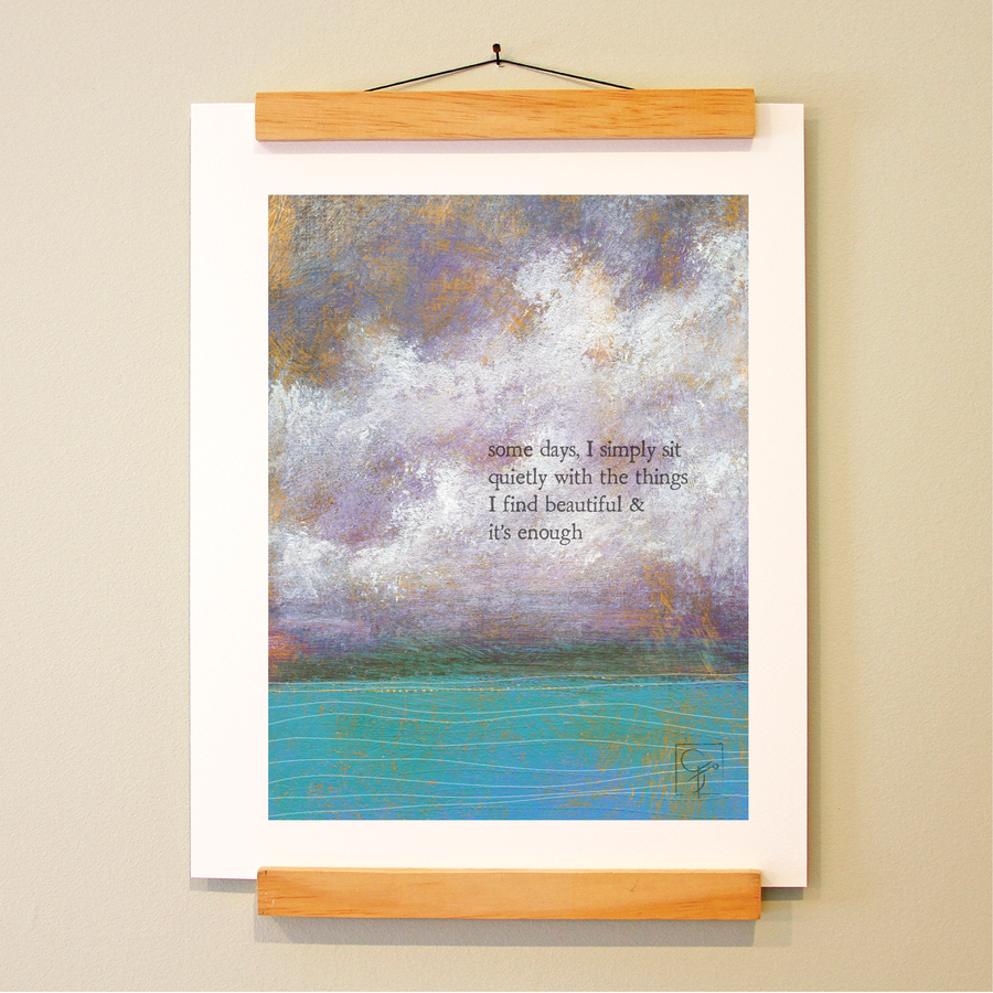 bird & brush: quiet beauty print