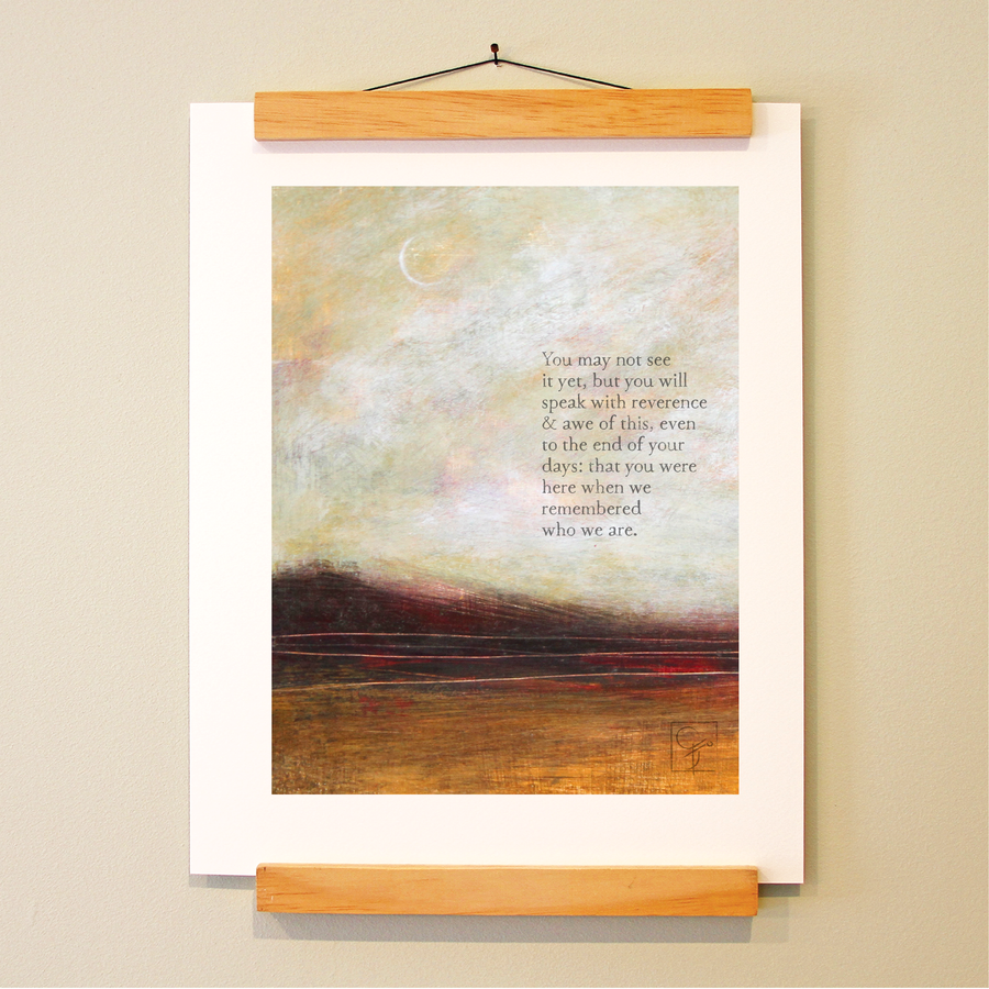 bird & brush: reverence print