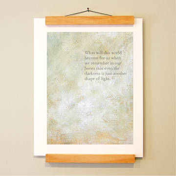 bird & brush: shape of light (remix) print