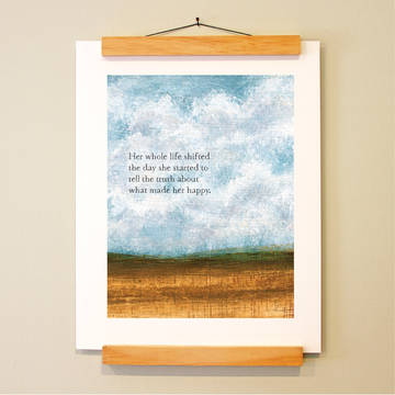 bird & brush: simple truth print