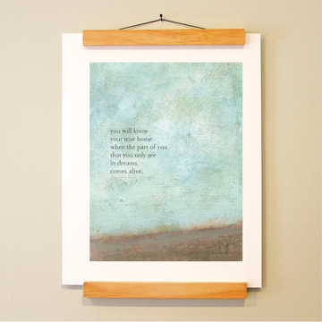bird & brush: true home print