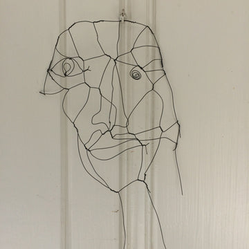 wire study of a man