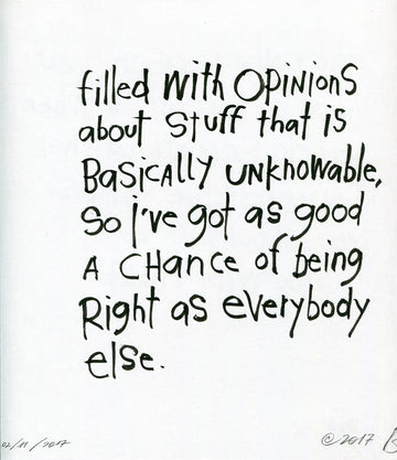 original: unknowable opinions