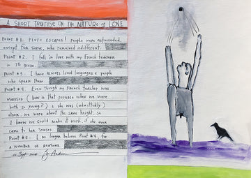 Original acrylic on paper 'A Short Treatise on Love': Brian Andreas
