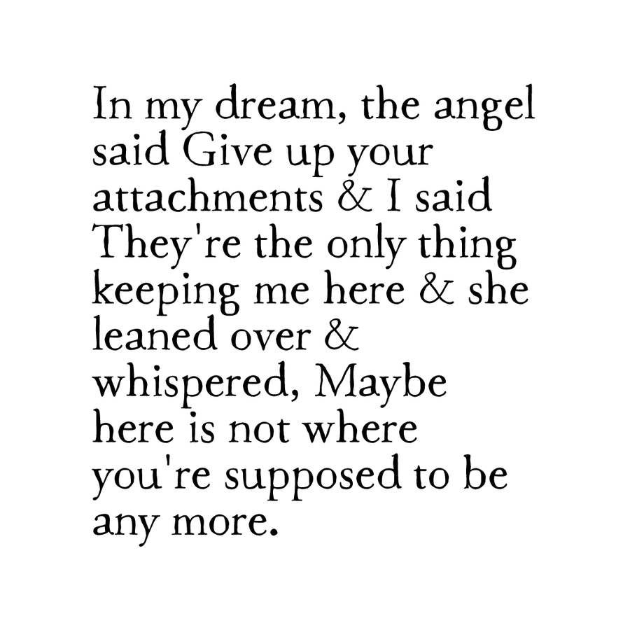 everyday angels: attachments print