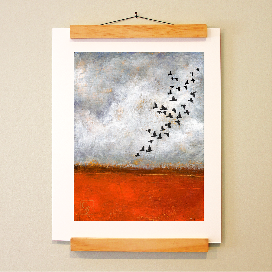 bird & brush: soaring print