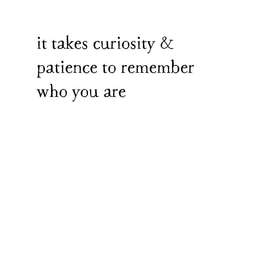 whispers: curiosity & patience