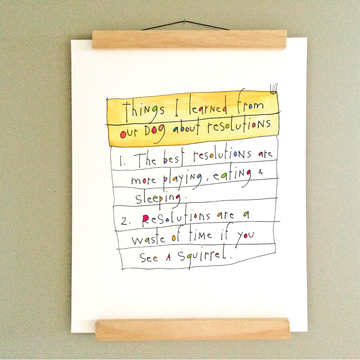 Dog Resolutions Print