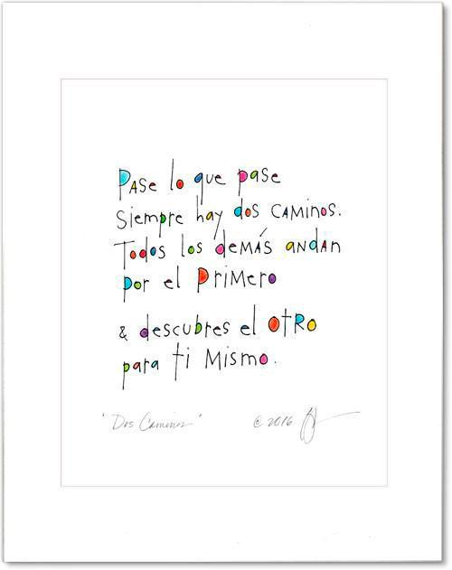 Dos Caminos (Two Paths) Prints
