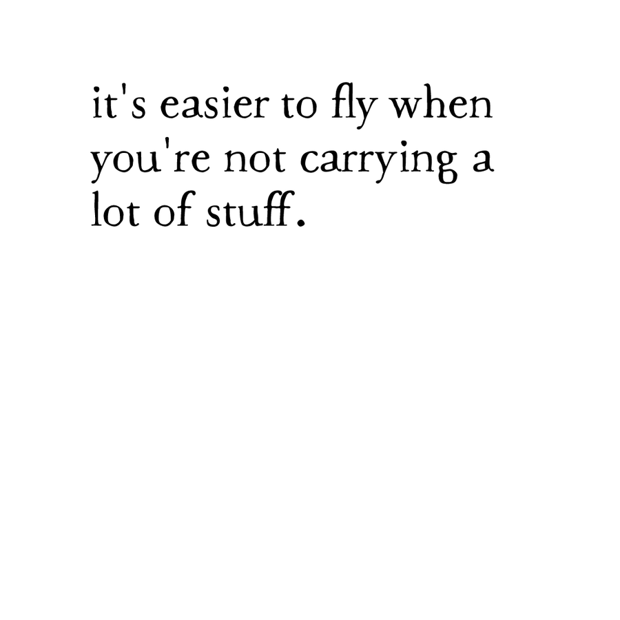 whispers: easier to fly