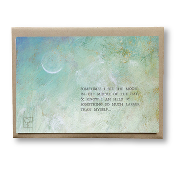 bird & brush: midday moon notecard