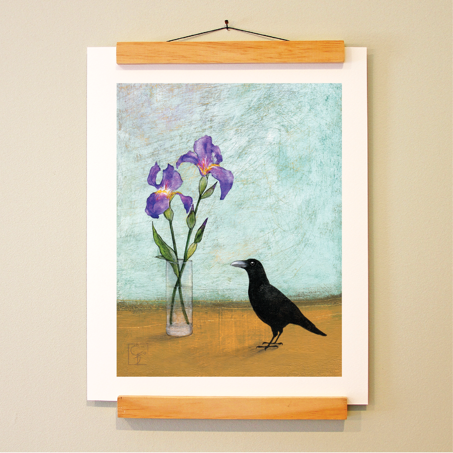 bird & brush: miranda & iris print