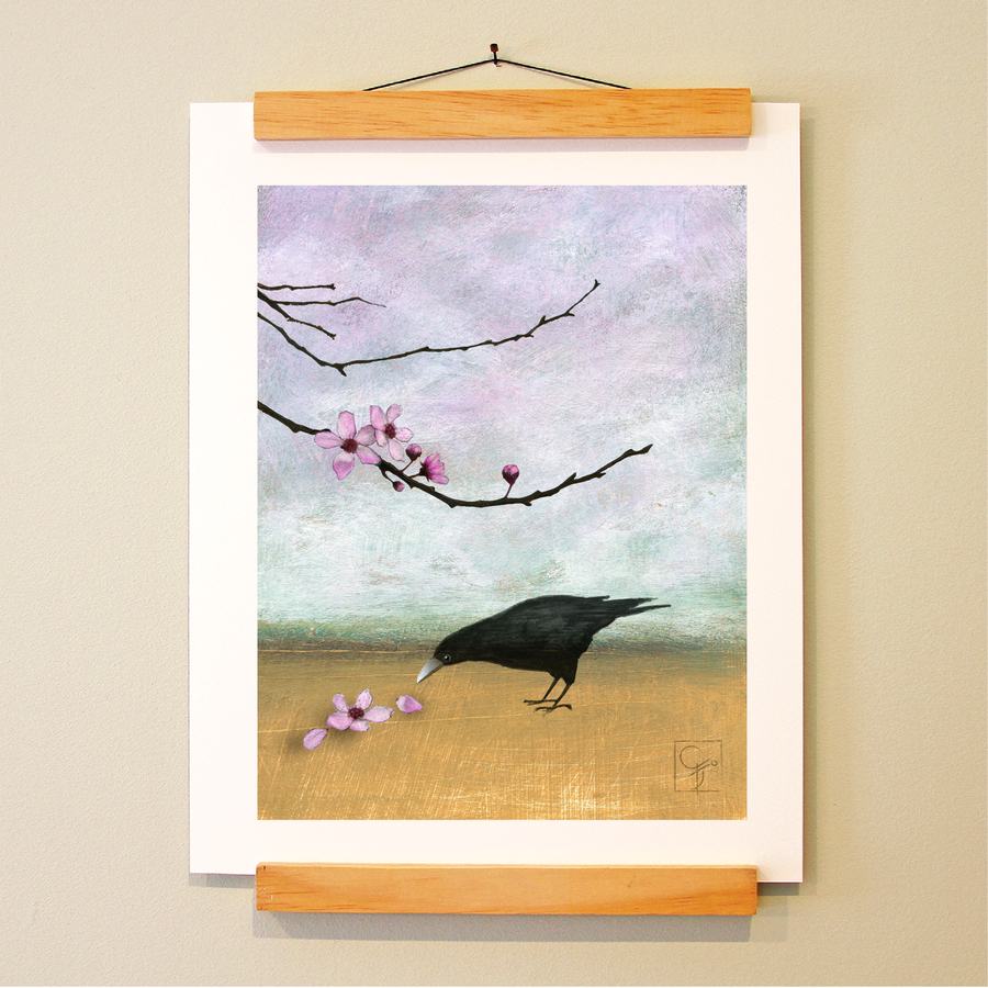 bird & brush: miranda zen print