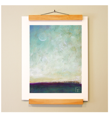 bird & brush: moonrise print