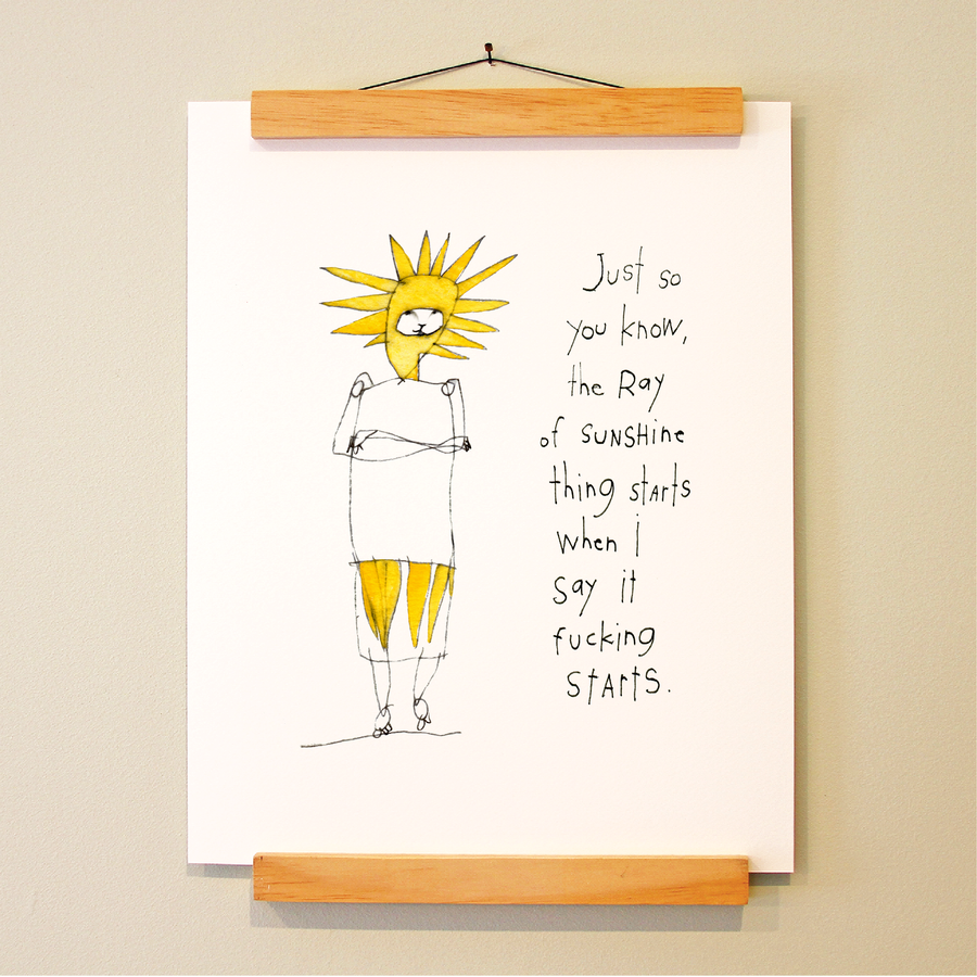 ray of sunshine print