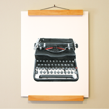bird & brush: word machine print