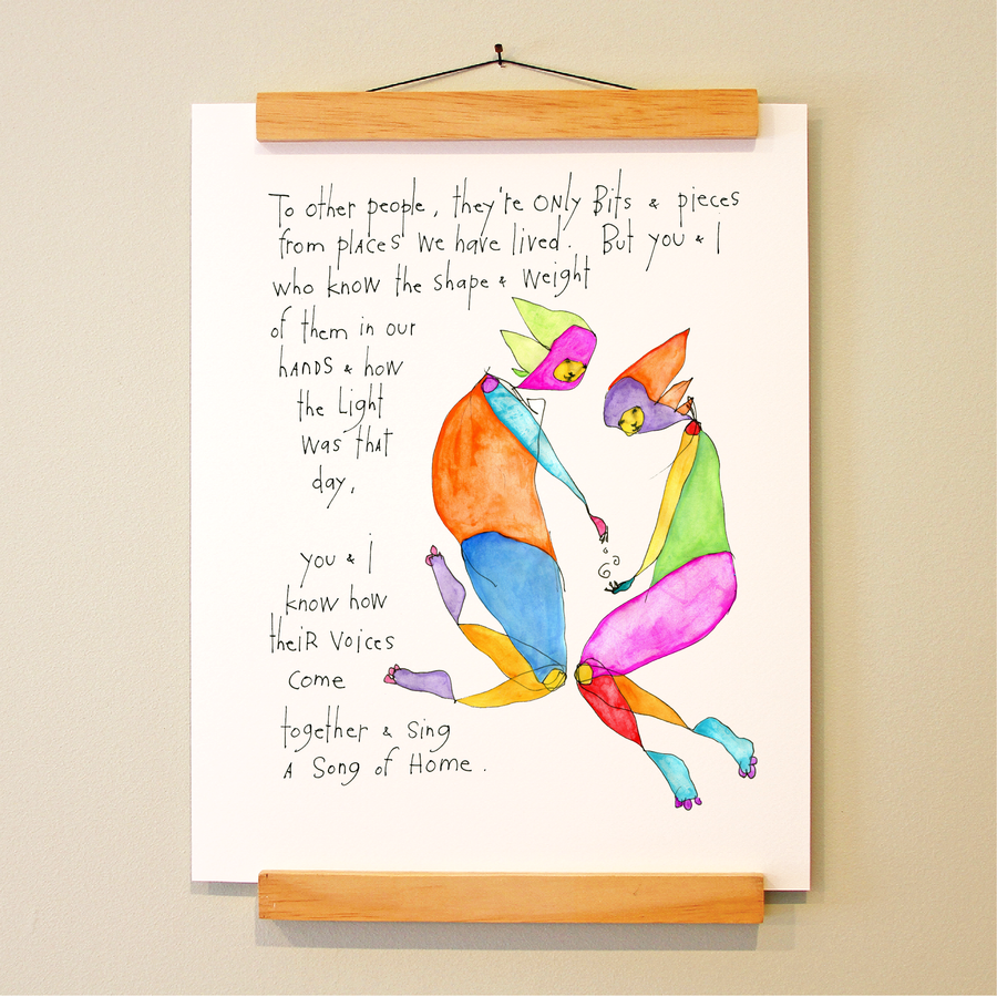 song of home print