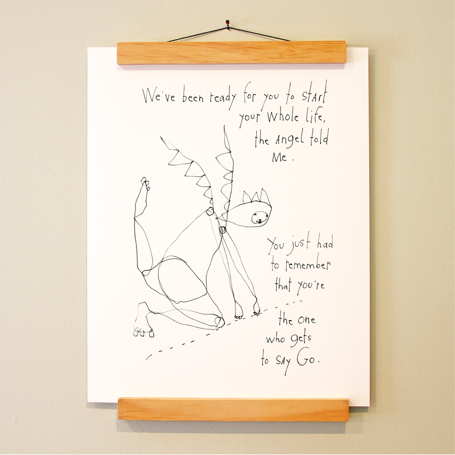 everyday angels: starting line print