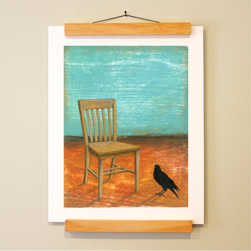 bird & brush: the library chair print